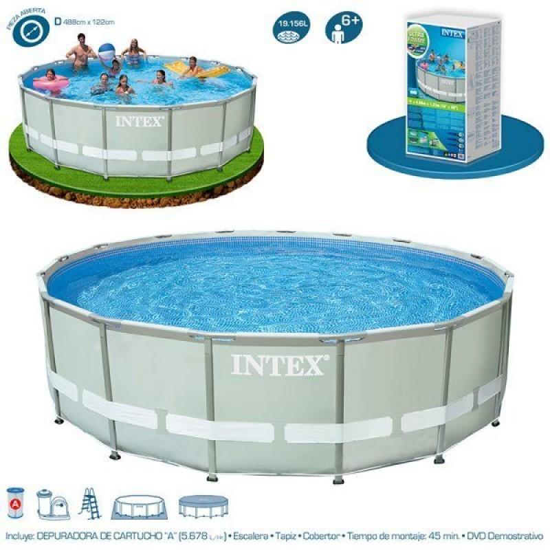 piscina tubular con depuradora