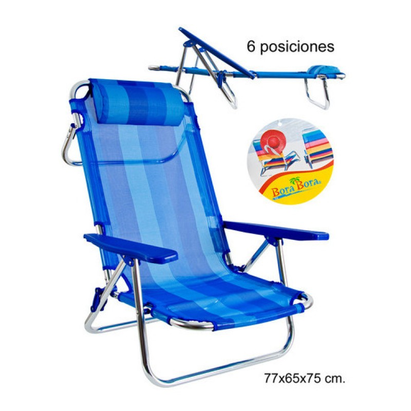 Silla de playa azul outlet piscinas for Sillas para piscina