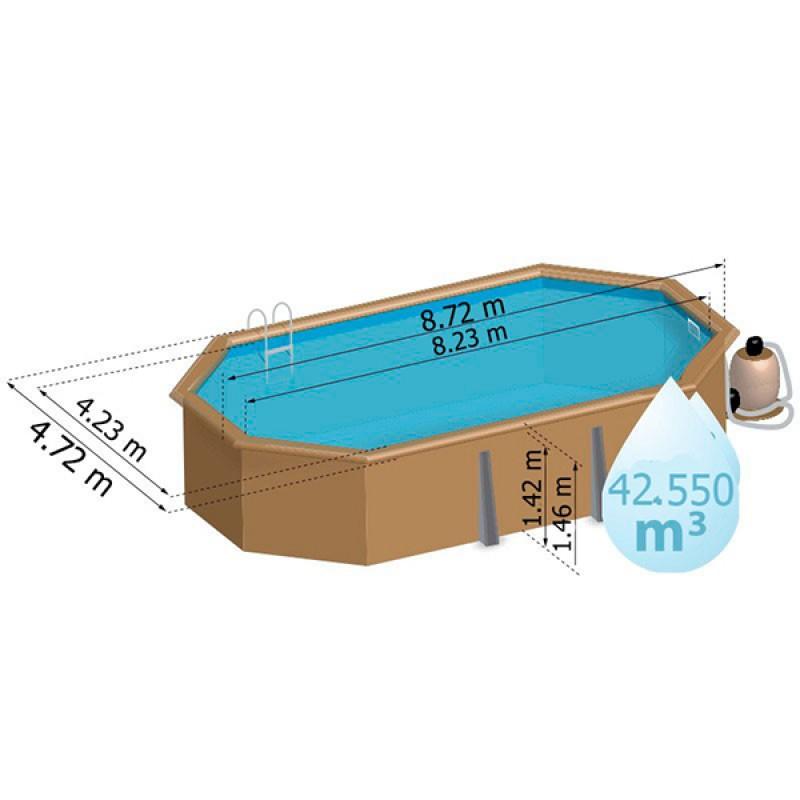 Piscina de madera gre ovalada sevilla outlet piscinas - Piscinas prefabricadas sevilla ...