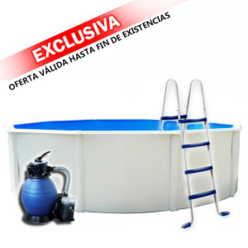 Piscina de acero maliboo outlet piscinas for Ofertas de piscinas