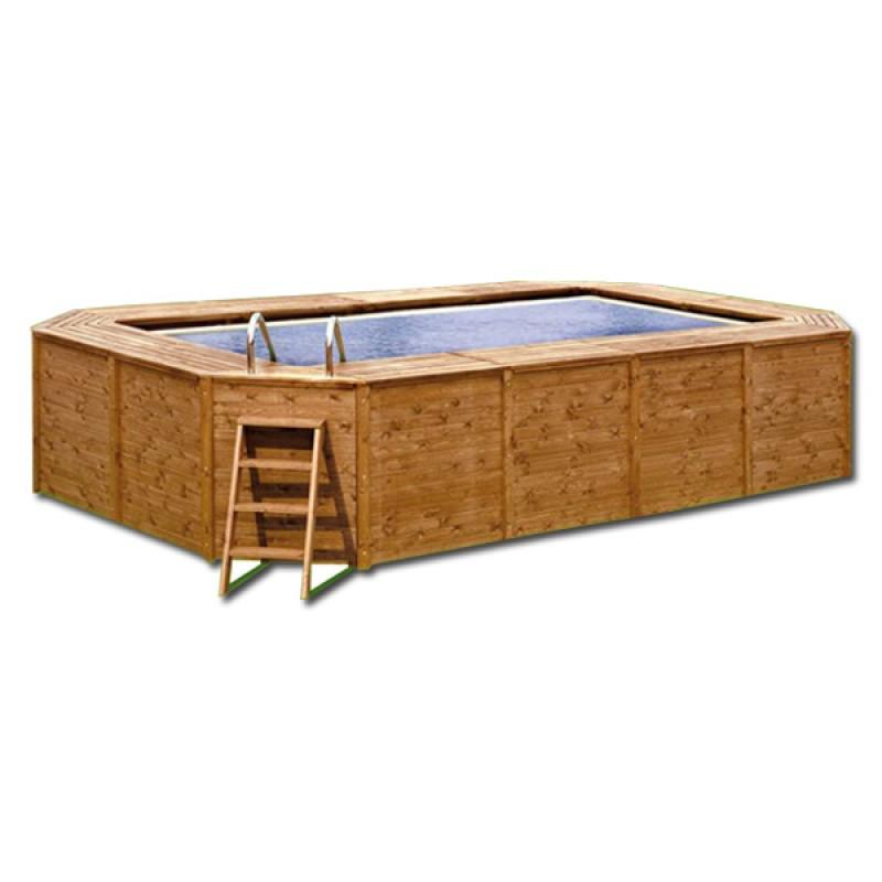Instalaci n de piscina de madera grande outlet piscinas - Piscina madera rectangular ...