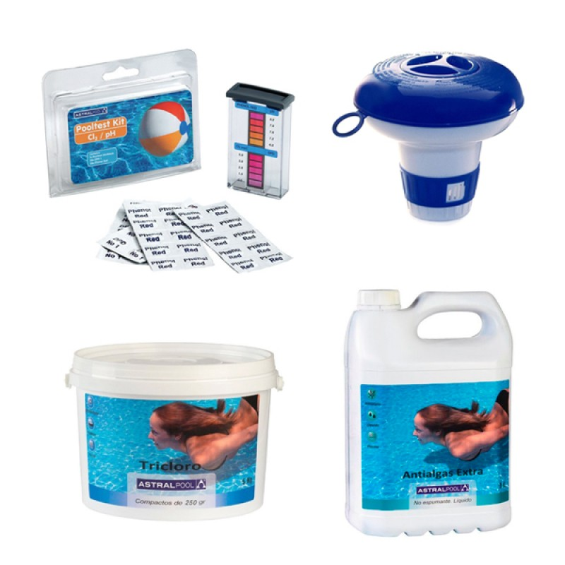 Pack verano piscina desmontable mediana outlet piscinas for Accesorios piscinas desmontables