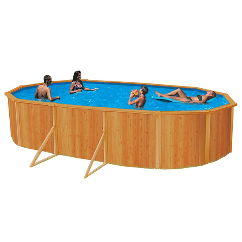 Piscina de acero k2o amazonas ovalada outlet piscinas for Piscina acero