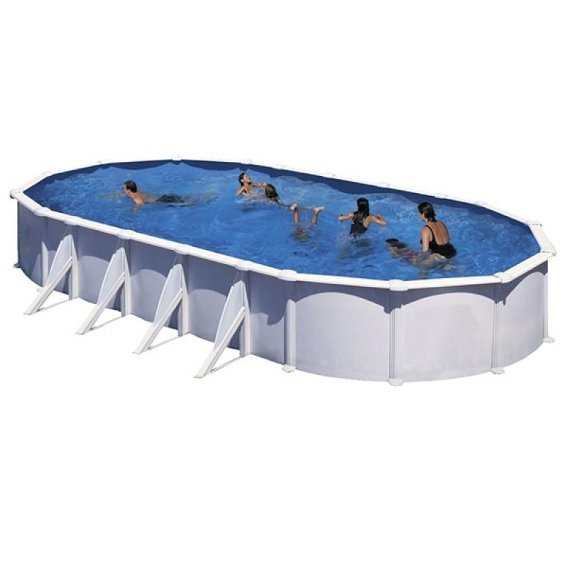 Piscina desmontable atlantis ovalada gre outlet piscinas for Piscina acero