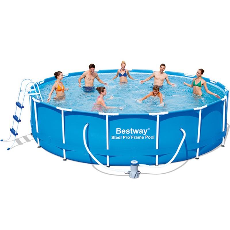 Piscina bestway steel pro 457 x 107 outlet piscinas for Piscinas bestway carrefour