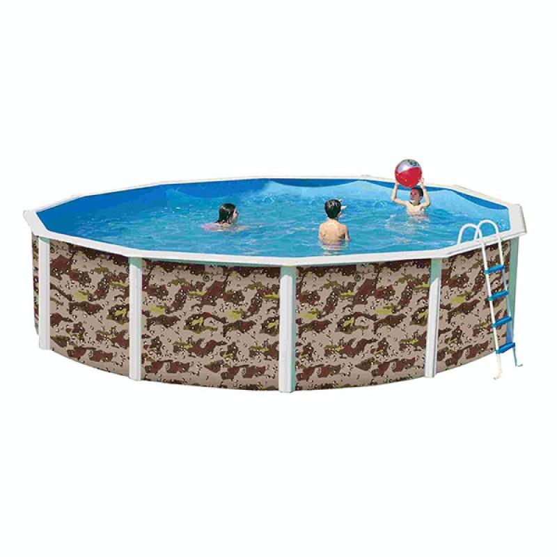 Piscina camuflaje circular toi outlet piscinas for Piscinas toi