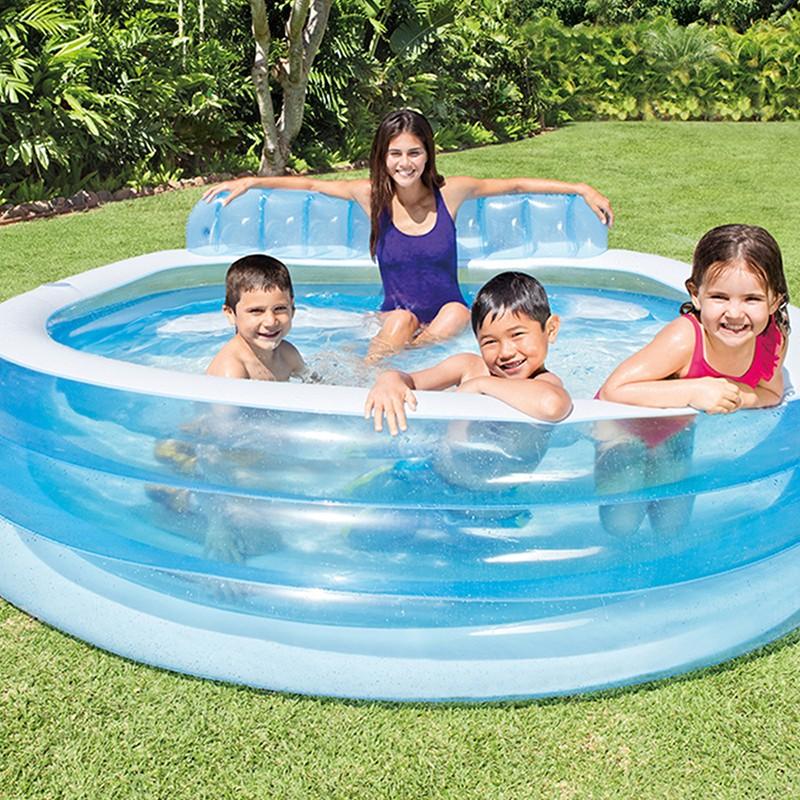 Piscina familiar sill n 57190 intex outlet piscinas for Piscina hinchable