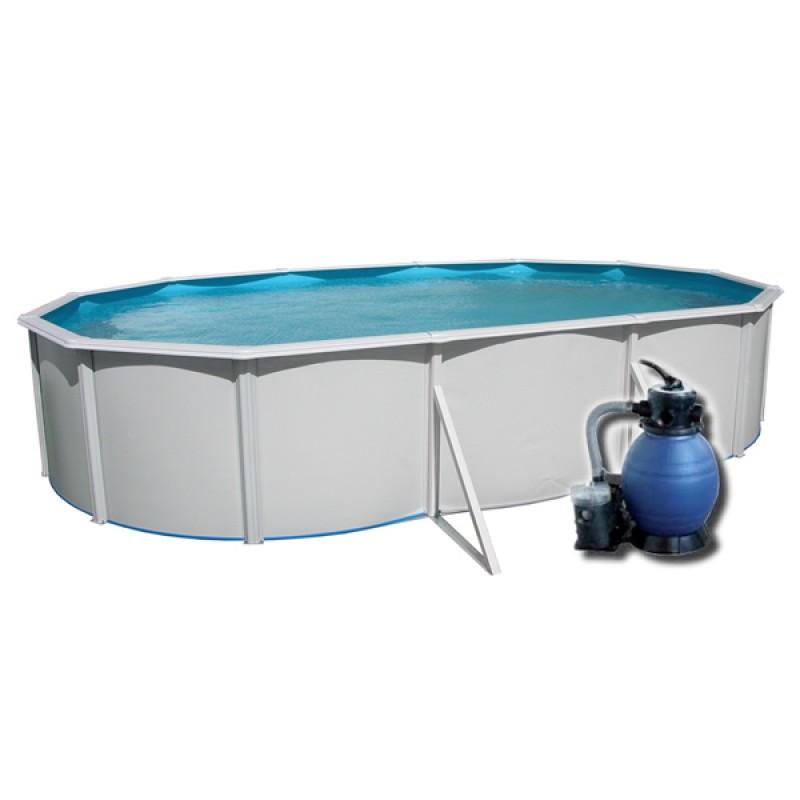 piscina desmontable con depuradora de arena