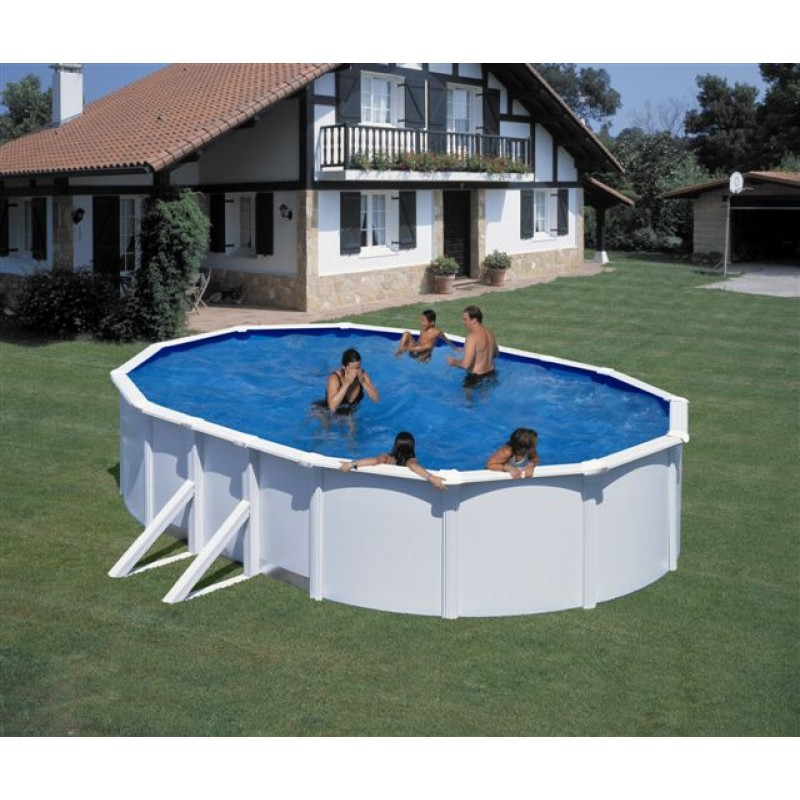 Piscina desmontable ovalada gre 120cm p500eco outlet for Piscina ovalada