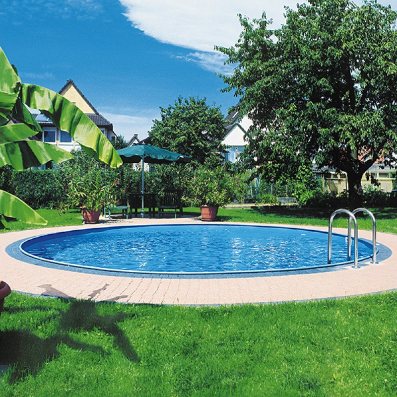Piscina enterrada gre sumatra circular outlet piscinas for Oulet piscinas