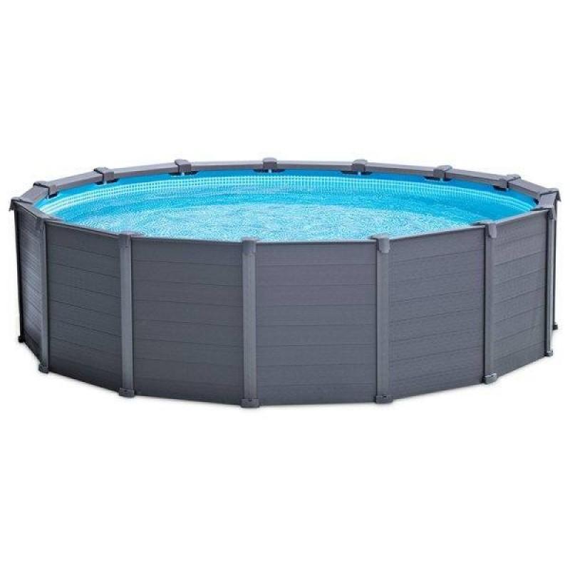 piscina intex graphite panel 478x124cm outlet piscinas. Black Bedroom Furniture Sets. Home Design Ideas