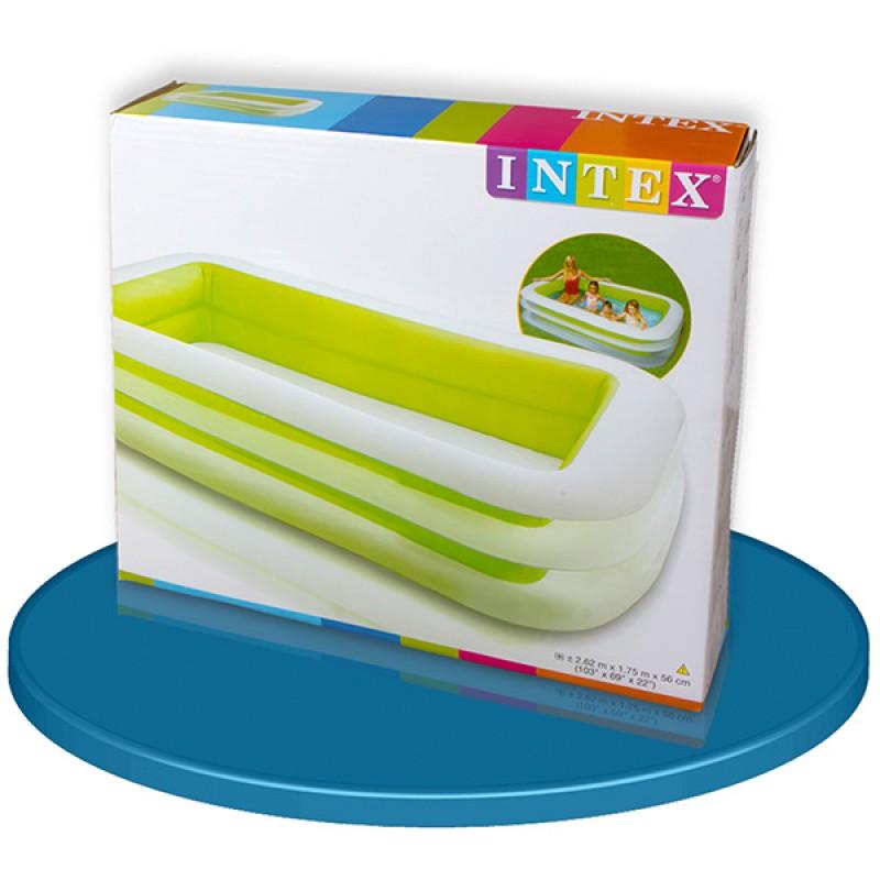 piscina hinchable intex 262x175x56 cm