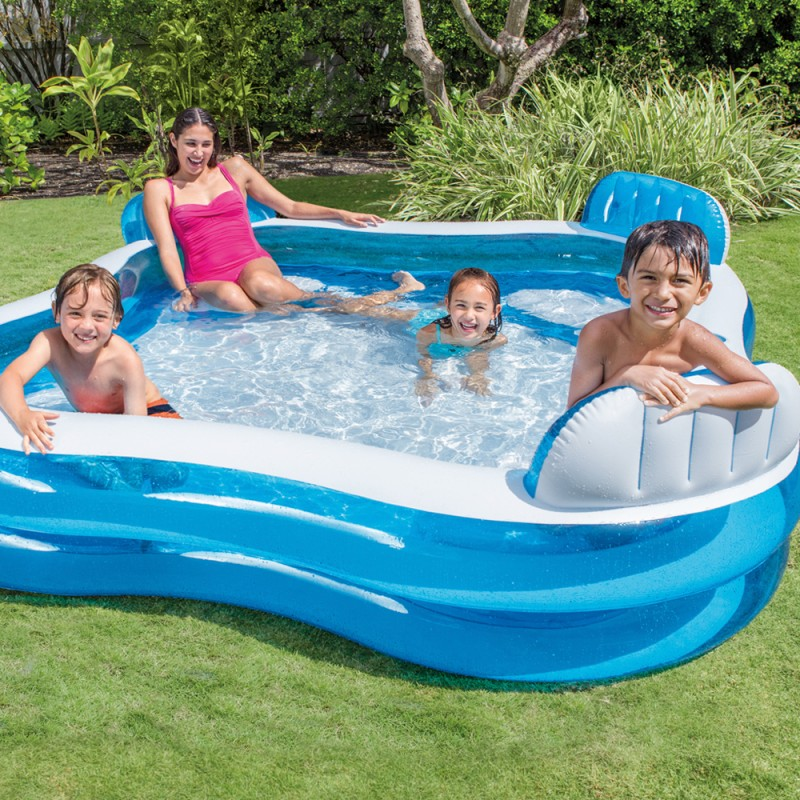 piscina hinchable con asientos outlet piscinas