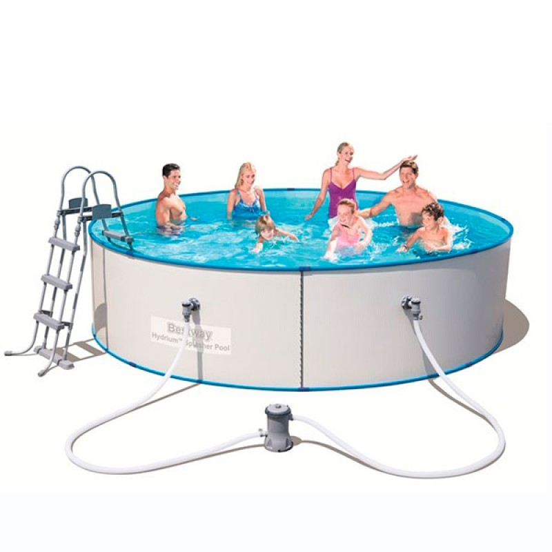 Piscina desmontable redonda hydrium splasher outlet piscinas for Oulet piscinas
