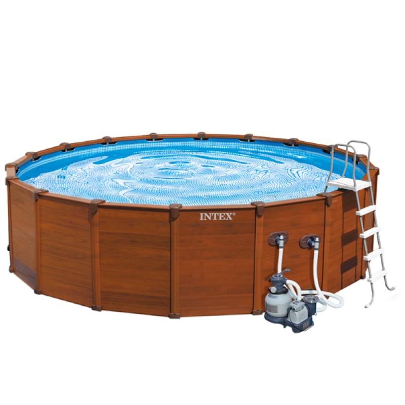 Piscina intex sequoia spirit 569x135 outlet piscinas for Albercas armables intex