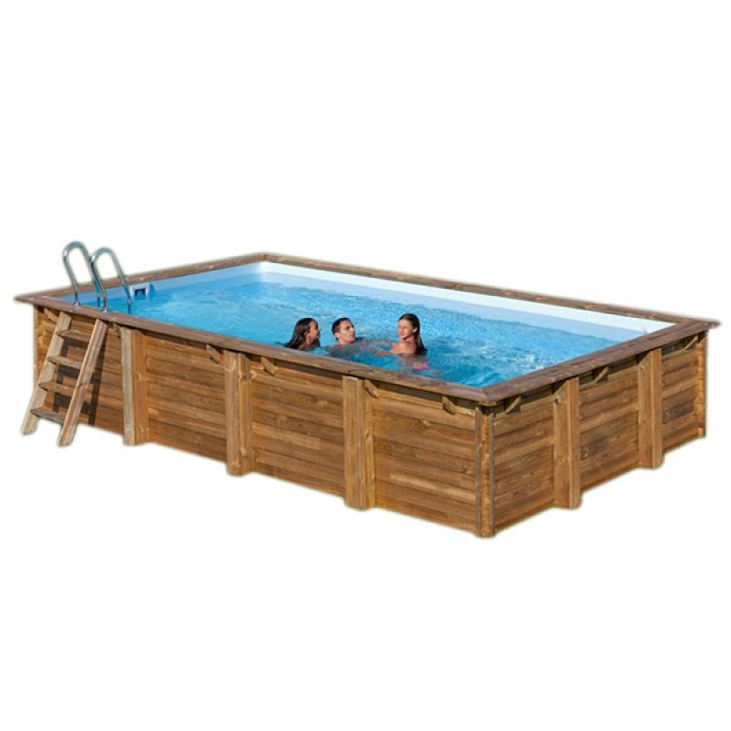 piscina de madera evora rectangular gre cm