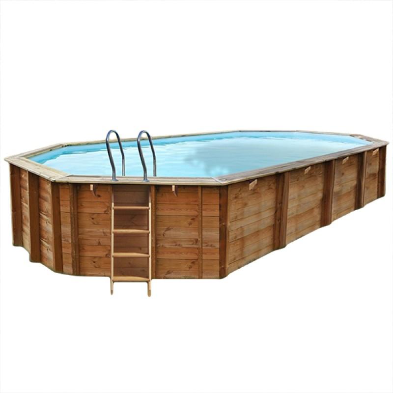 Piscina de madera gre ovalada sevilla outlet piscinas - Madera para piscinas ...