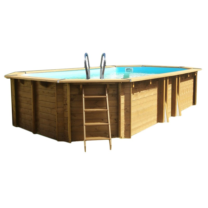 Piscina de madera gre safran 637x412x133 outlet piscinas - Madera para piscinas ...