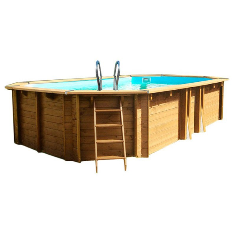Piscina de madera gre safran 637x412x133 outlet piscinas for Oulet piscinas