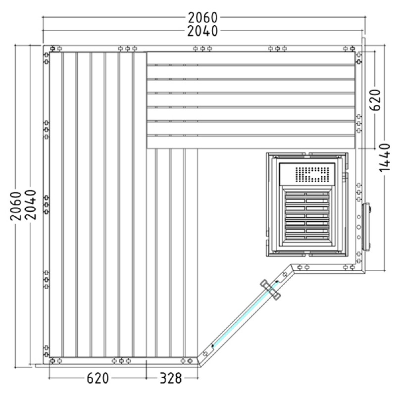 Sauna vapor polaris small outlet piscinas - Construir una sauna ...