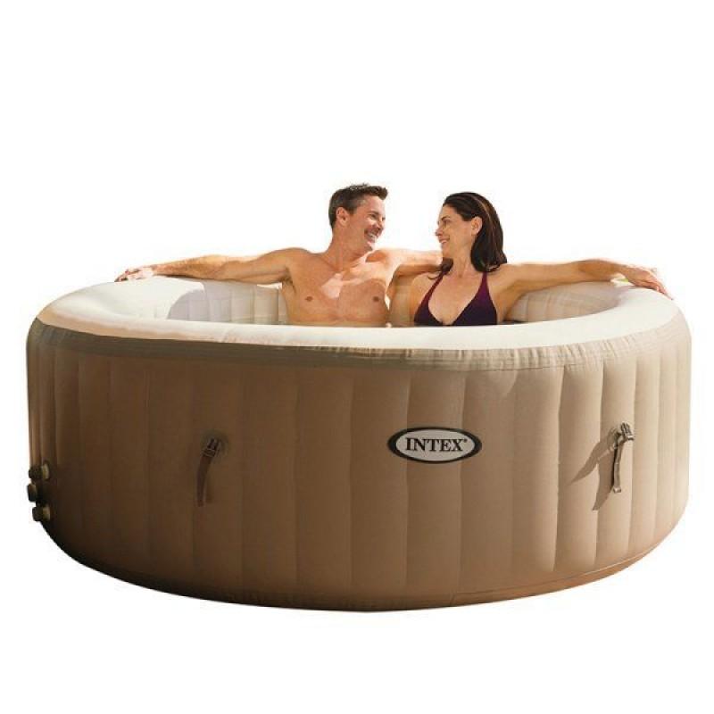 Purespa spa hinchable redondo beige intex outlet piscinas for Piscinas intex carrefour