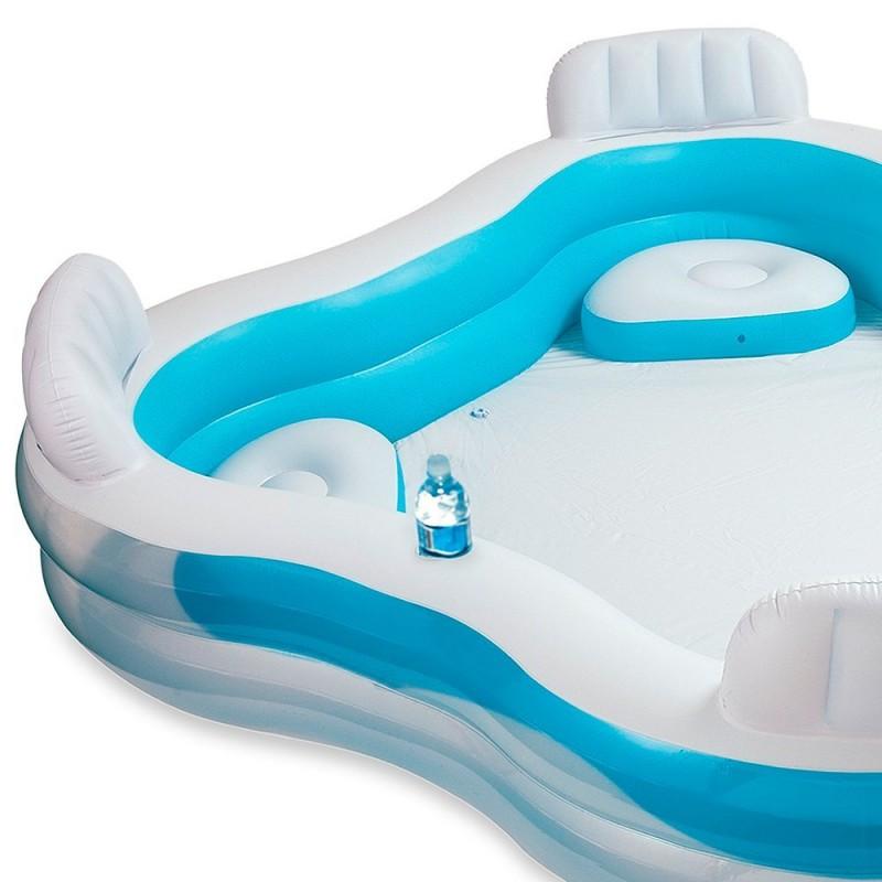 piscina hinchable con asientos intex