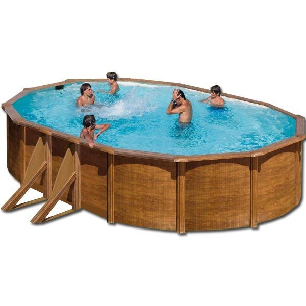 Piscina desmontable pacific ovalada gre outlet piscinas for Oulet piscinas
