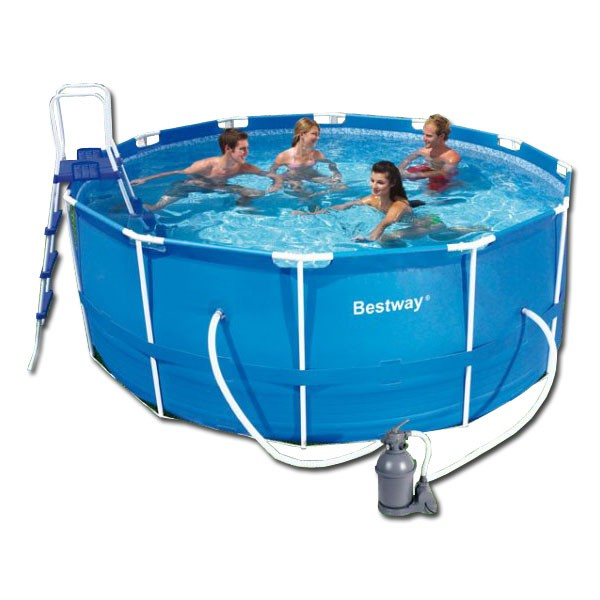 Piscina bestway steel pro 366x122 outlet piscinas for Cubre piscina bestway