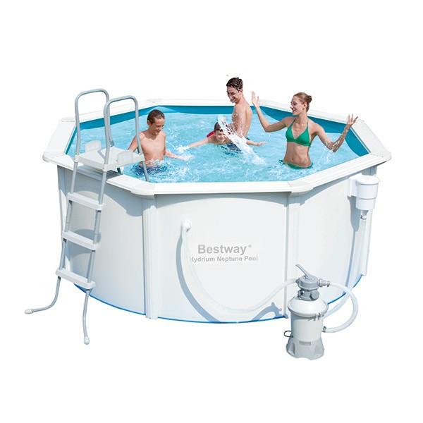 Piscina de acero hydrium poseidon outlet piscinas for Piscina acero