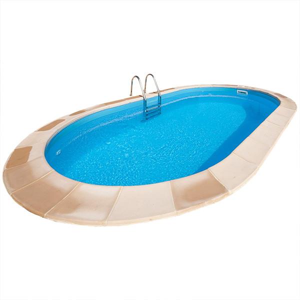 Piscina enterrada gre madagascar ovalada outlet piscinas for Piscinas enterradas