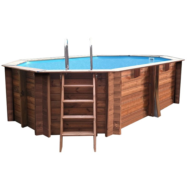 Piscina madera gre cannelle 551x351x119 outlet piscinas for Piscina prefabricada madera