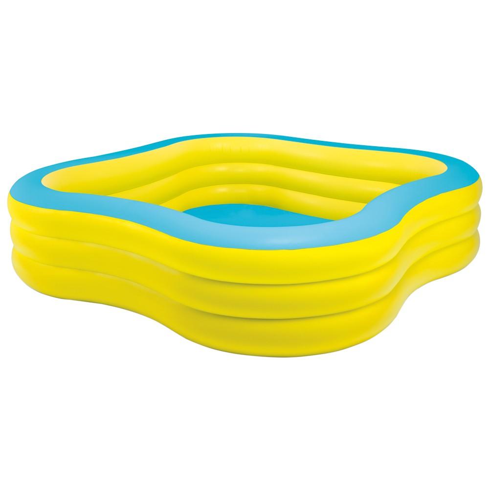 Piscina hinchable family 229x229x56cm outlet piscinas for Cubre piscinas intex