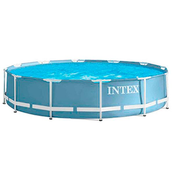 Piscina intex prisma frame 366x76cm outlet piscinas for Cubre piscinas intex