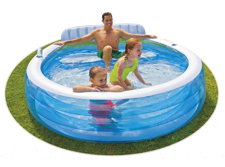 Piscina familiar sill n 57190 intex outlet piscinas for Cubre piscinas intex