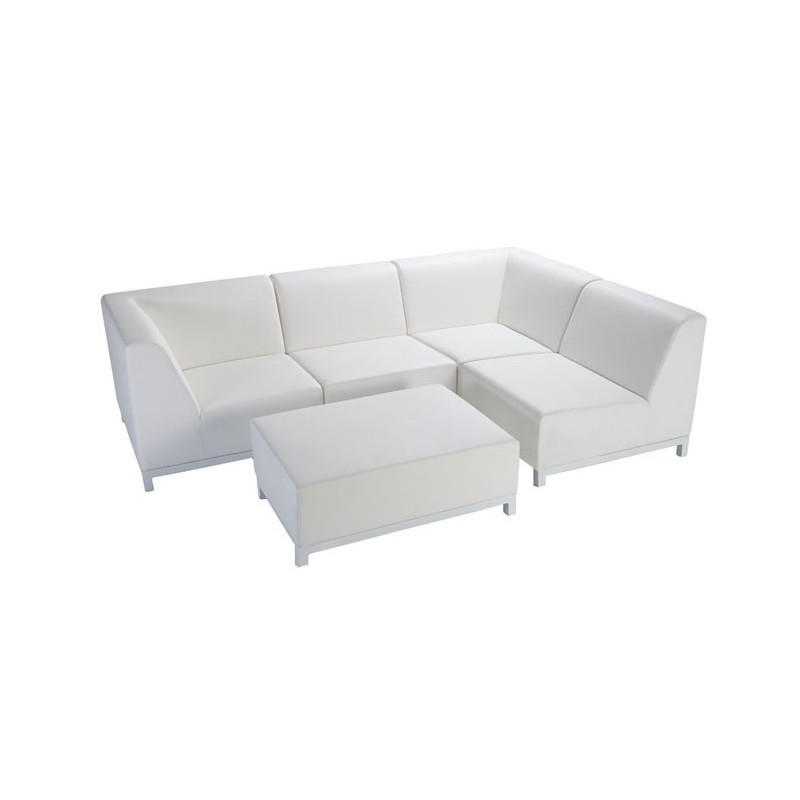 Sof exterior cloud 59581 1x outlet piscinas for Sofa exterior aluminio
