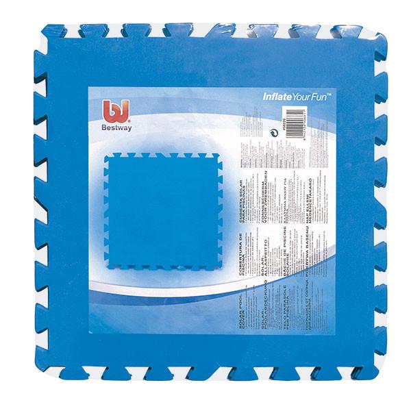 Tapiz de suelo acolchado bestway 50 x 50 cm outlet piscinas - Suelo para piscina desmontable ...