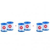 Recambio Pack 6 Cartuchos Intex Filtro tipo H