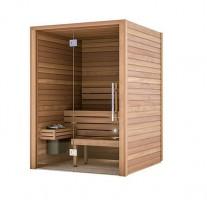 Sauna Cala parte frontal cristal puerta extremo izquierdo SA3672