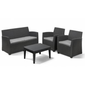 Muebles Jardín Lounge Set Corona Graphito