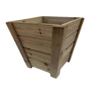 Macetero Cerrado Madelea madera natural