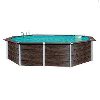Piscina madera ovalada Composite Toi 526