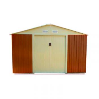 Caseta metalica marrón 321x241x205cm