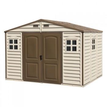Caseta de PVC para exterior Woodside 10 x 8 Duramax