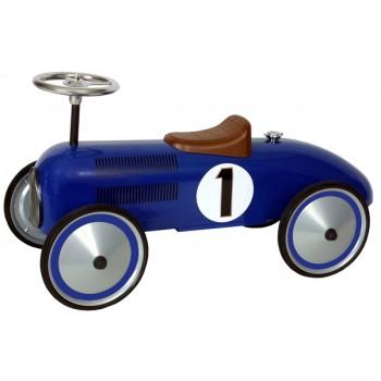 Coche de carreras Azul Retro