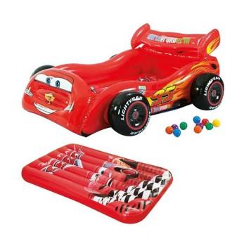 Coche hinchable Cars con bolas y colchoneta