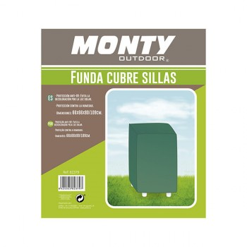 Funda 4 sillas color verde Monty