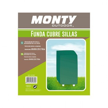 Funda 8 sillas color verde Monty