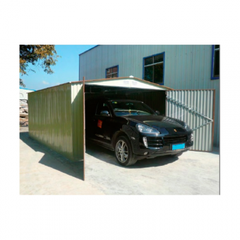Garaje metalico verde 380x420x232cm