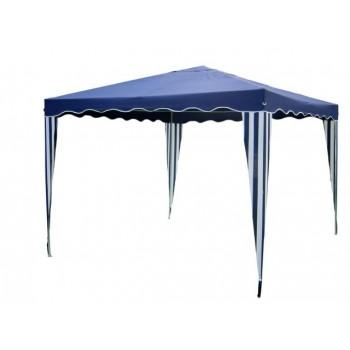 Gazebo hierro azul