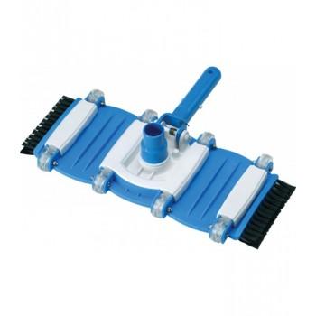 Limpiafondos manual rotativo 8 ruedas cepillos laterales